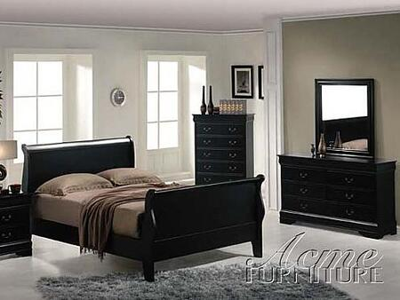 Acme Furniture 00430Q Louis Philippe Series  Sleigh Bed