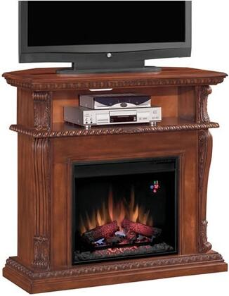 "Picture of 23DE1447-C233 Corinth 23"" Electric Fireplace with 100% Energy Efficient Open Shelf Realistic Flame Effect Finest Hardwoods and Wood Veneers in Vint"