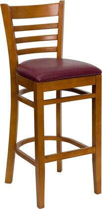 Flash Furniture XUDGW0005BARLADCHYBURVGG Hercules Series Vinyl Upholstered Bar Stool