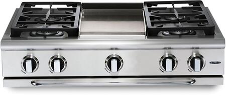 """Capital GRT364GN 36"""" PRECISION Series Natural Gas Sealed Burner Style Cooktop"""