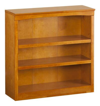 Atlantic Furniture H80037  Wood 2-3 Shelves Bookcase