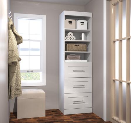 """Bestar Furniture 26871 Pur by Bestar 25"""" storage unit with 3-drawer set"""