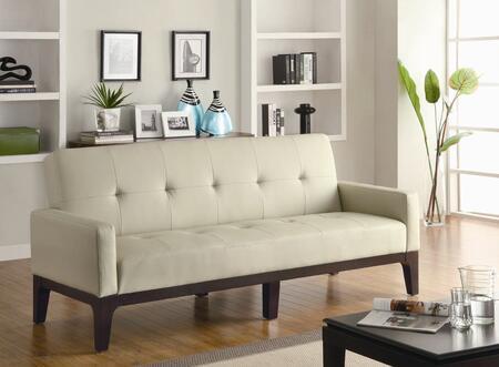 Coaster 300226  Convertible Faux Leather Sofa
