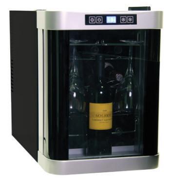 """Haier HVDW15ABB 13.6"""" Black Wine Cooler"""
