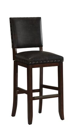 American Heritage 11114S Sutton Series Stool with Suede Finished Wooden Frame and Bonded Leather Cushion in Tobacco