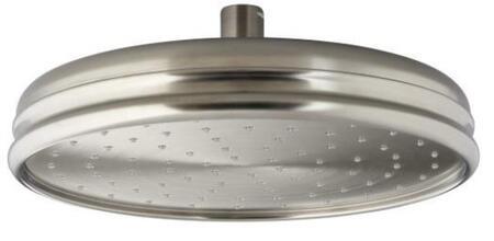 """Kohler K-13693 Rainhead 10"""" Traditional round rain showerhead:"""