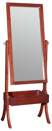 """Powell Holland Collection 44"""" x 60"""" Cheval Mirror with Built-In Rectangle Bin, Adjustable Angles, Solid Wood Construction and Medium-Density Fiberboard (MDF) in"""