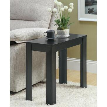 Monarch I 311 Accent Side Table, with Wood Construction, Tapered Legs, and Rectangular Shape