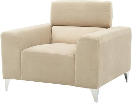 Glory Furniture G334C Suede Armchair with Metal Frame in Beige