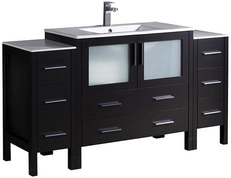 "Fresca FCB62123612XXX Torino 60"" Modern Bathroom with Top and Vessel Sink"