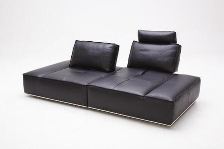 VIG Furniture VGKK1323BLK Divani Casa Orchid Series Stationary Leather Sofa