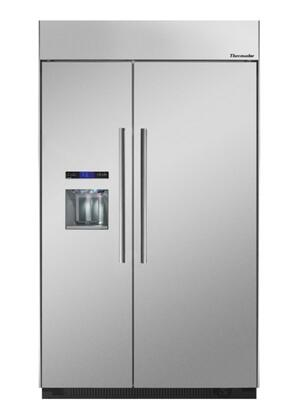 "Thermador T48BD810NS 48""  Counter Depth Side by Side Refrigerator with 30 cu. ft. Capacity in Stainless Steel"