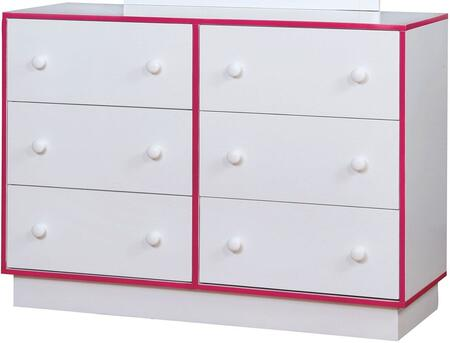 Furniture of America CM7852PKD Bobbi Series  Dresser