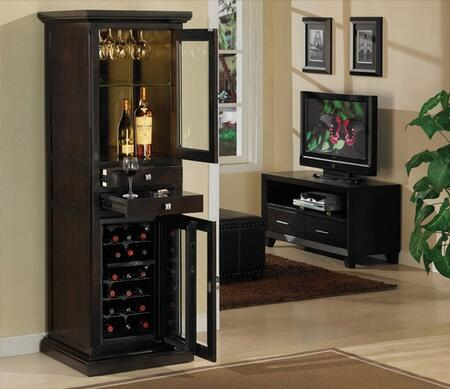 "Tresanti DC1093E4511823 23.00"" Wine Cooler, in Empire Cherry,Espresso,Premium Oak"