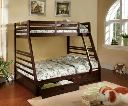 Furniture of America CMBK588EXBED California III Series  Twin over Full Size Bunk Bed