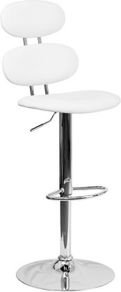 Flash Furniture CH112280WHGG Residential Vinyl Upholstered Bar Stool
