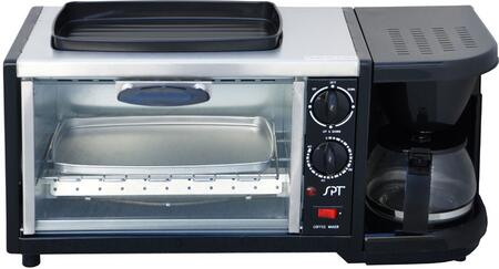Picture of BM1118 3-in-1 Breakfast Maker with 9-Liters Capacity Toaster Oven  4-Cups Coffee Maker  Oven Top Griddle  Heat Resistant Glass Door  Reusable Coffee Filter