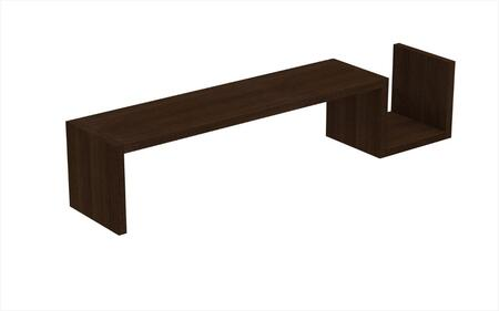 Accentuations 44AMC Accentuations by Manhattan Comfort Zemmur S Shaped Floating Wall Mount Shelf