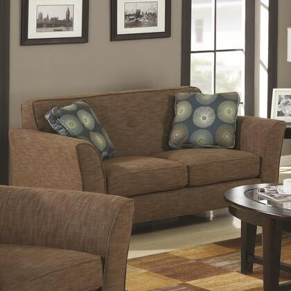 Coaster 504152 Lilian Series Fabric Stationary with Wood Frame Loveseat
