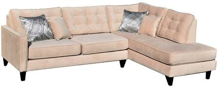 Gardena Sofa Orlando Fabric Sectional Sofa GDNCA42 Beiged ...