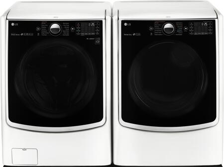 LG WM5000HWADLGX5001WPAIR1 Washer and Dryer Combos