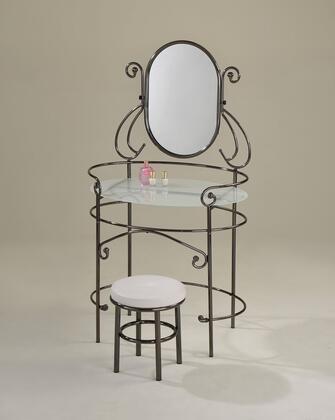 Acme Furniture 90143 Juliet Series Metal None Drawers Vanity