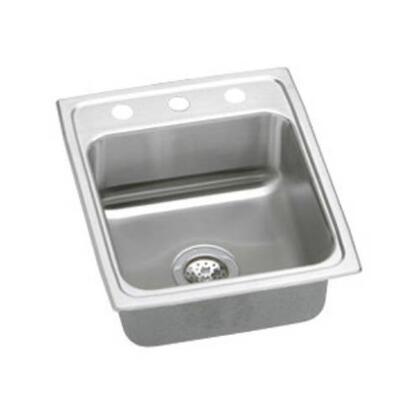 """Elkay LR15220 15"""" Top Mount Self-Rim Single Bowl 18-Gauge Stainless Steel Sink With"""