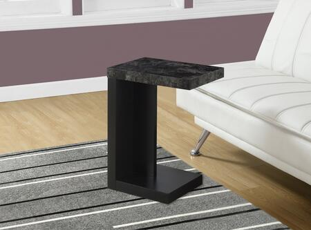 "Monarch I321X 24"" Accent Table with Stylish Marble Look, Modern Design and Sturdy Base"
