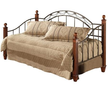 Hillsdale Furniture 171DBWDL Camelot Poster Daybed with Suspension Deck, Draped Rope Wire and Decorative Castings in Black Gold and Cherry Finish