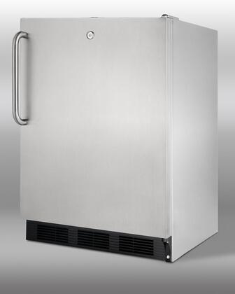 Summit SCR600LOSSD  Freestanding Counter Depth Compact Refrigerator with 5.5 cu. ft. Capacity,