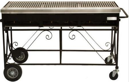 Lazy Man A3CC A Series 120,000 BTU 6 Burner Mobile Freestanding Country Club Catering Grill