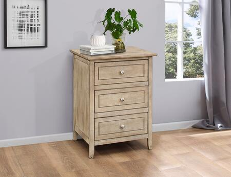 """Glory Furniture G1300 Collection 19"""" Nightstand with 3 Dovetailed Drawers, Nickel Hardware, Wood Solids/Veneers and Manufactured Wood Construction"""
