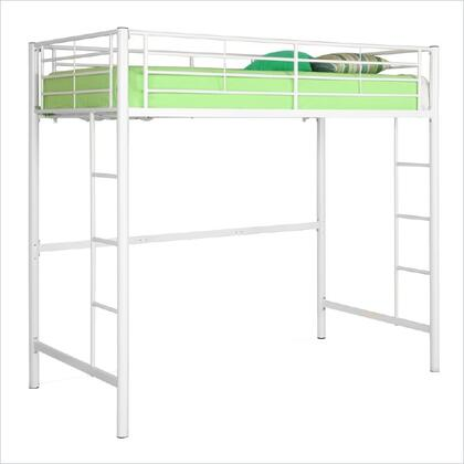 Walker Edison BTOLWH Sunrise Series  Twin Size Loft Bed