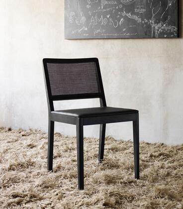 Modloft CDS223T5C5 Nicholas Series Modern Leather Wood Frame Dining Room Chair