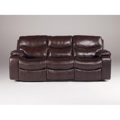 Signature Design by Ashley 4230187 Zackary - Mahogany Series  Leather Sofa