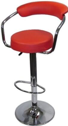 Fine Mod Imports FMI2123RED Residential Faux Leather Upholstered Bar Stool