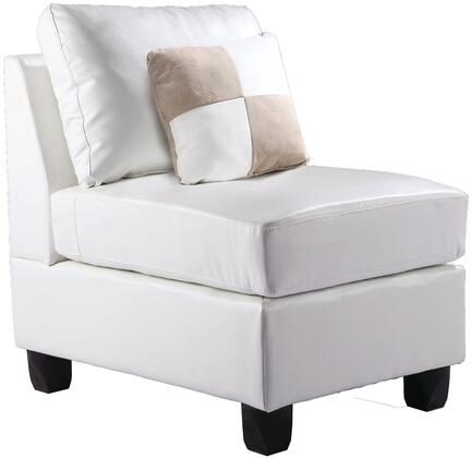 Glory Furniture G647AC Bycast Leather  in White