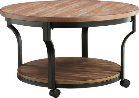 Acme Furniture 80460 Oak Industrial Table