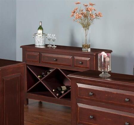 Accent Sofa Table with Drawers