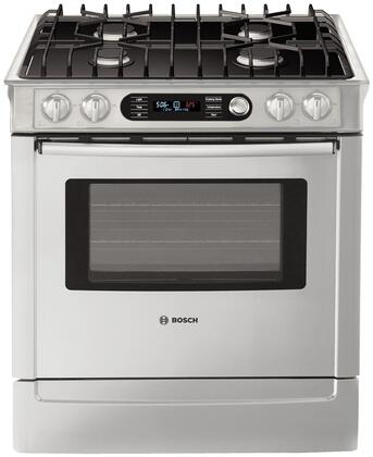 "Bosch HDI7282U 30"" 700 Series Slide-in Dual Fuel Range with Sealed Burner Cooktop Warming 4.6 cu. ft. Primary Oven Capacity"