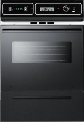 """Summit TEM721DK 24"""" Black Glass Single Wall Oven"""