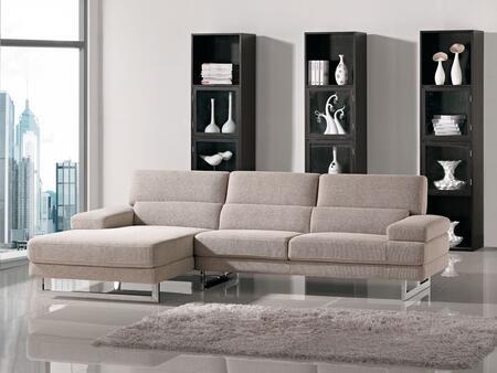 VIG Furniture VGMB1175 Divani Casa Como Series Sofa and Chaise Fabric Sofa