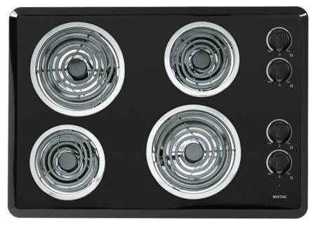 "Maytag MEC4430W 30"" Coil Electric Cooktop With 4 Heavy Duty Coil Elements, Hot Surface Indicator Light, Power Center Cooktop, Porcelain Surface and No Drip Chrome Bowls"