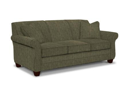 "Broyhill Greenwich 3676-3/8612 83"" Wide Sofa with 2 Pillows Included, DuraCoil Seat Cushions and Tapered Feet in"