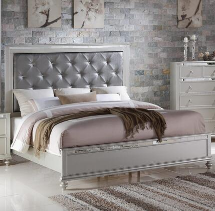 Myco Furniture CR450Q Christopher Series  Queen Size Panel Bed