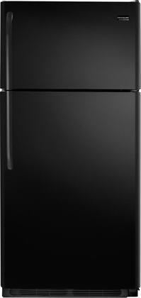Frigidaire FFHT1826LB Freestanding Top Freezer Refrigerator with 18.2 cu. ft. Total Capacity 2 Glass Shelves 4.07 cu. ft. Freezer Capacity  Appliances Connection