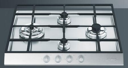 Smeg PTS605U3  Gas Sealed Burner Style Cooktop, in Stainless Steel