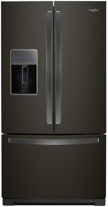 """Whirlpool WRF757SDH 36"""" French Door Refrigerator with 27 cu. ft. Total Capacity, Energy Star Certified, Pizza Pocket, LED Interior Lighting, in"""