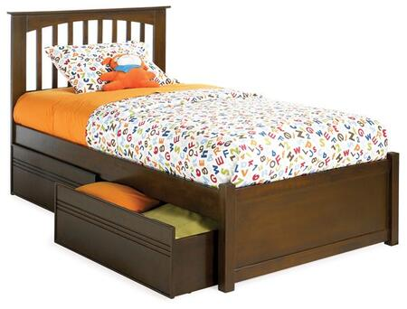 Atlantic Furniture BROOKLYNFPFTWINAW Brooklyn Series  Twin Size Bed