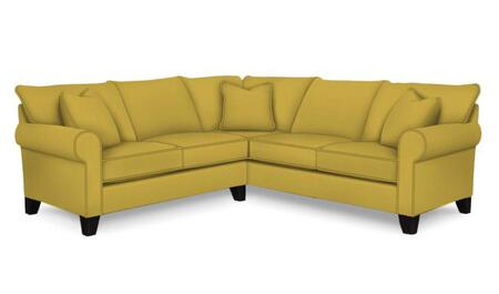 Broyhill Noda 4231 2-Piece X Loveseat Sectional Sofa with Rolled Arms, Pillows Included and Tapered Feet in